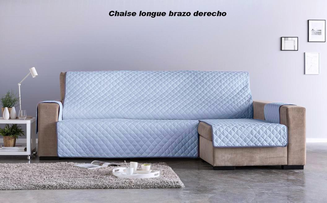 Salva sofá Chaise Longue Edén. Celeste