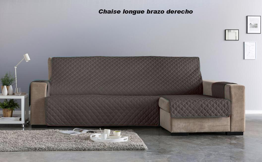 Salva sofá Chaise Longue Edén. Chocolate