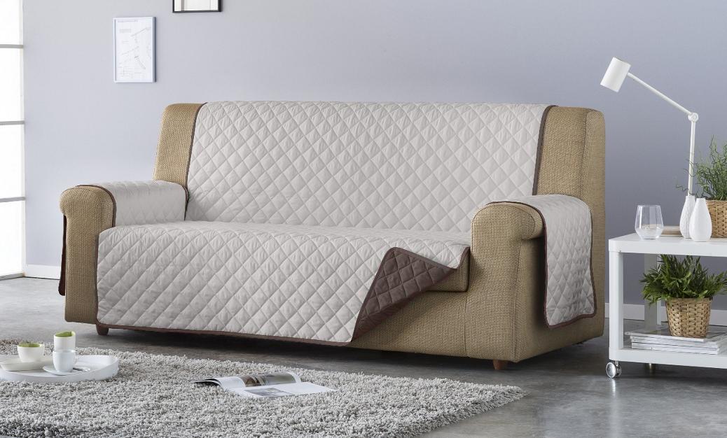 Salva sofá Edén. Chocolate/Beige