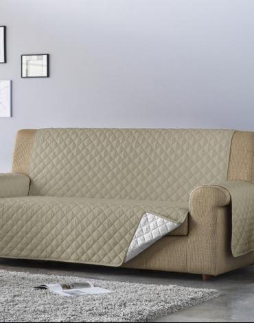 Salva sofá Edén. Taupe/Blanco