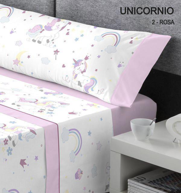 Sábana Unicornio Rosa. Catotex