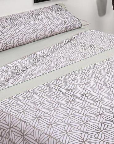 Sábana D/ G56 Beige. Textil Mora
