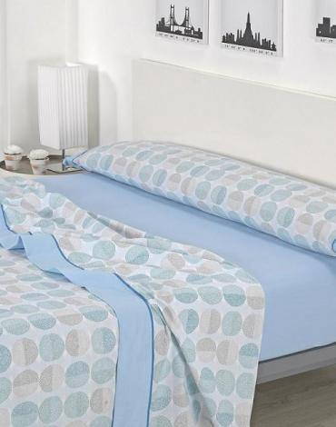 Sábana D/ J00 Azul. Textil Mora