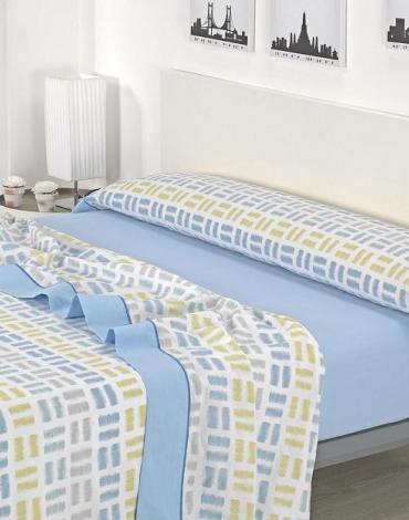 Sábana D/ J04 Azul. Textil Mora