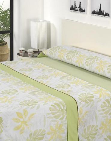 Sábana D/ J11 Verde. Textil Mora