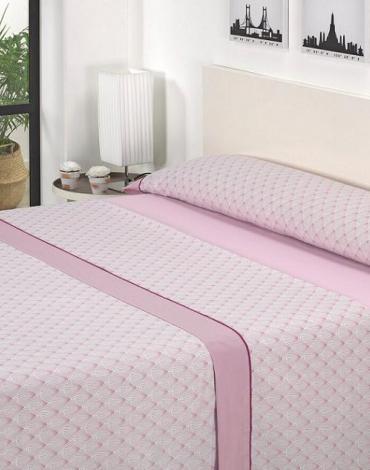 Sábana D/ J07 Rosa. Textil Mora